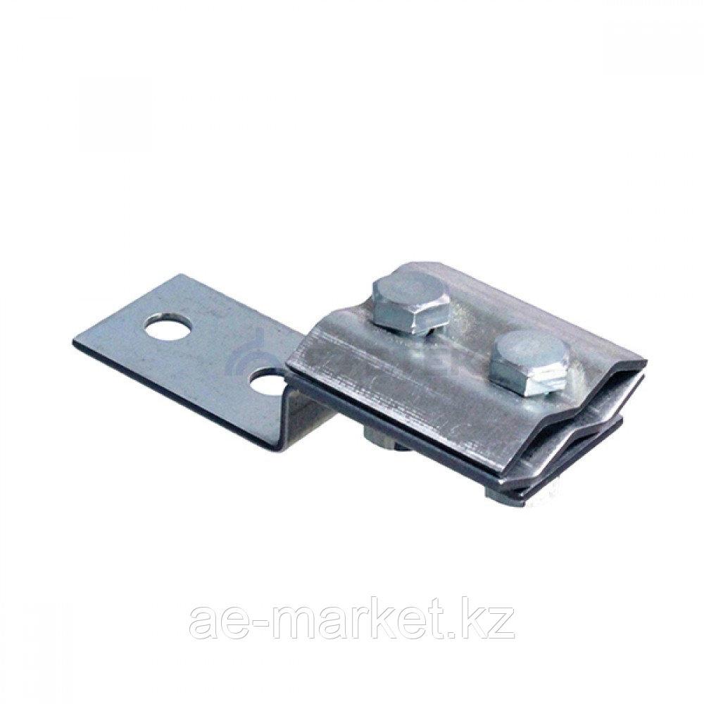 Держатель-зажим соединительный круглого проводника 8-10 мм параллельный, оцинк.