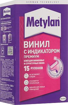 METYLAN Винил ПРЕМИУМ Обойный клей с розовым индикатором для виниловых обоев, 500 г