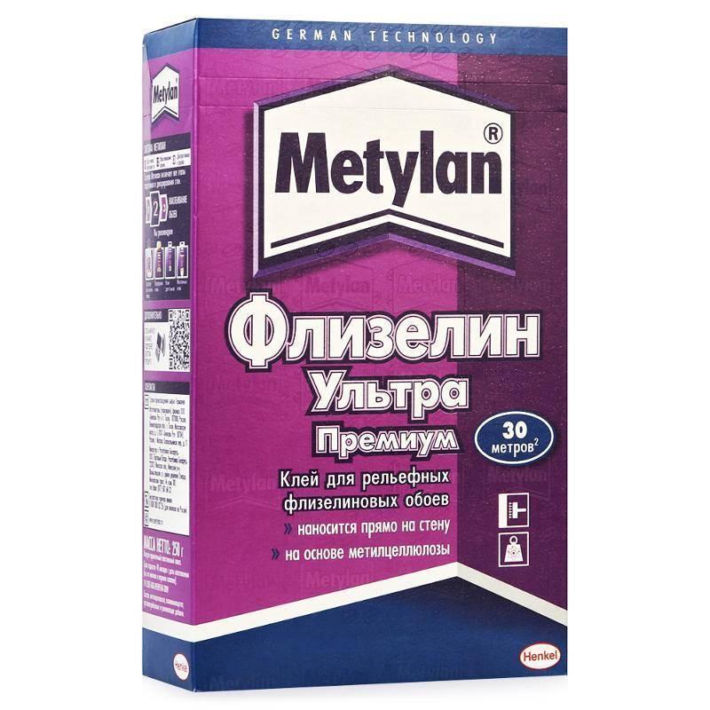METYLAN Флизелин Ультра ПРЕМИУМ Обойный клей для структурных обоев на гладкой флизелиновой основе, 250 г