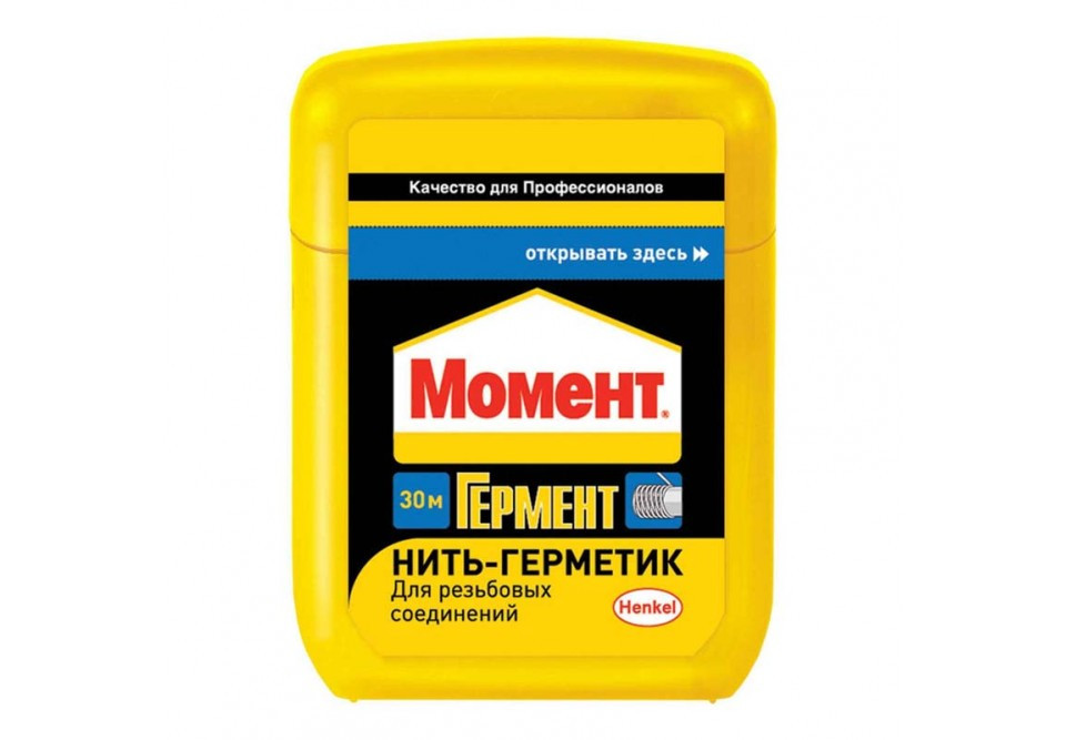 Нить Момент Гермент 30 м Нить-герметик для герметизации труб