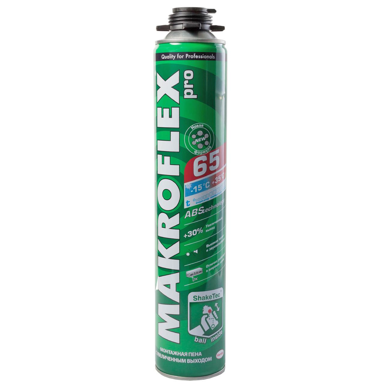 MAKROFLEX ShakeTec PU PRO Всесезонная профессиональная монтажная пена, 750 мл