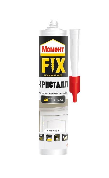 МОМЕНТ FIX Crystal Монтажный клей, 265 г, картридж