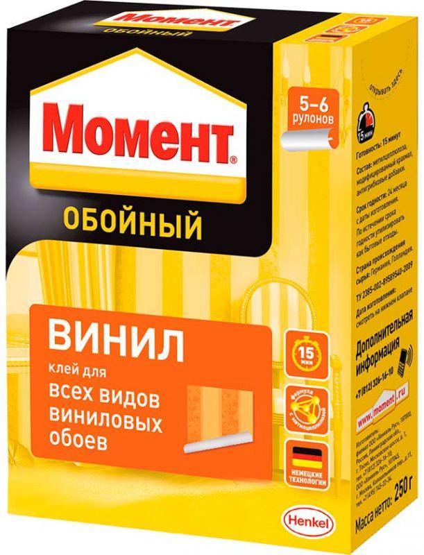 МОМЕНТ Винил Обойный клей для всех видов виниловых обоев, 250 г