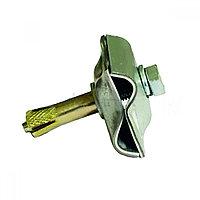 Держатель-зажим соединительный круглого проводника 8-10 мм анкерный, оцинк.