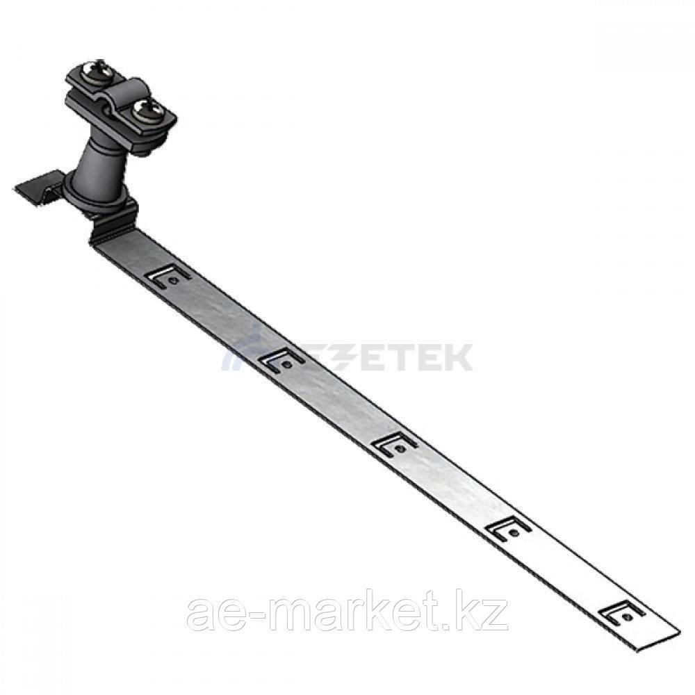 Держатель проводника круглого 6-10 мм для черепичной кровли серый, оцинк.