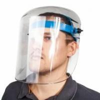 Лицевой щиток, выполнен из прозрачного пластмасса и оголовья с регулятором