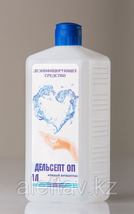 Дезинфицирующее средство для рук содержит спирт  В таре 1 литр, фото 2