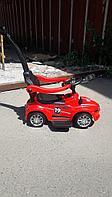 Детская каталка толокар Mercedes AMG с ручкой красный, фото 1