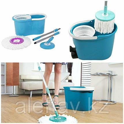 Комплект для уборки со шваброй Материал Сталь, Микрофибра, Пластик, фото 2