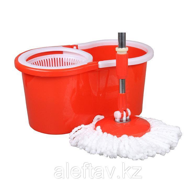 Комплект для уборки со шваброй Материал Сталь, Микрофибра, Пластик