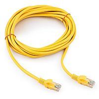 Патч-корд UTP Cablexpert PP12-5M/Y кат.5e 5м литой многожильный (жёлтый)