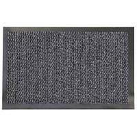 Коврик резиновый с ковролином Faro 04, 90х150 см, темно-серый