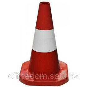 Конус дорожный, красно-белый, пластиковый