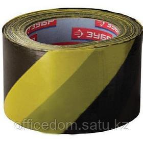 Лента сигнальная 75х200м, желто-черная