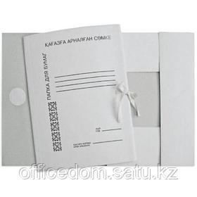 Папка с завязками картонная, мелованная