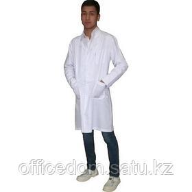 Халат медицинский мужской, белый
