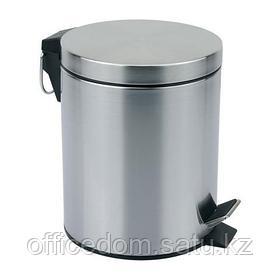 Бак для мусора с крышкой Mallony DBM-01-12 с педалью 12 л, хромир., матовый