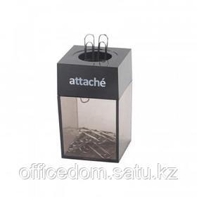 Скрепочница магнитная Attache с металл. скрепками 28 мм, черный
