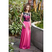 """Платье женское MINAKU """"Bella"""", размер 48, цвет розовый/чёрный"""