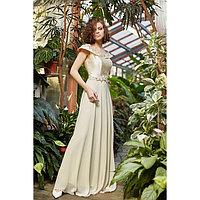 """Платье женское MINAKU """"Felice"""", размер 42, цвет бежевый"""