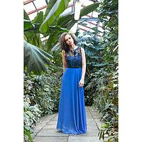 """Платье женское MINAKU """"Bella"""", размер 42, цвет синий/чёрный"""