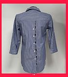 Женская серая рубашка в полоску, фото 2