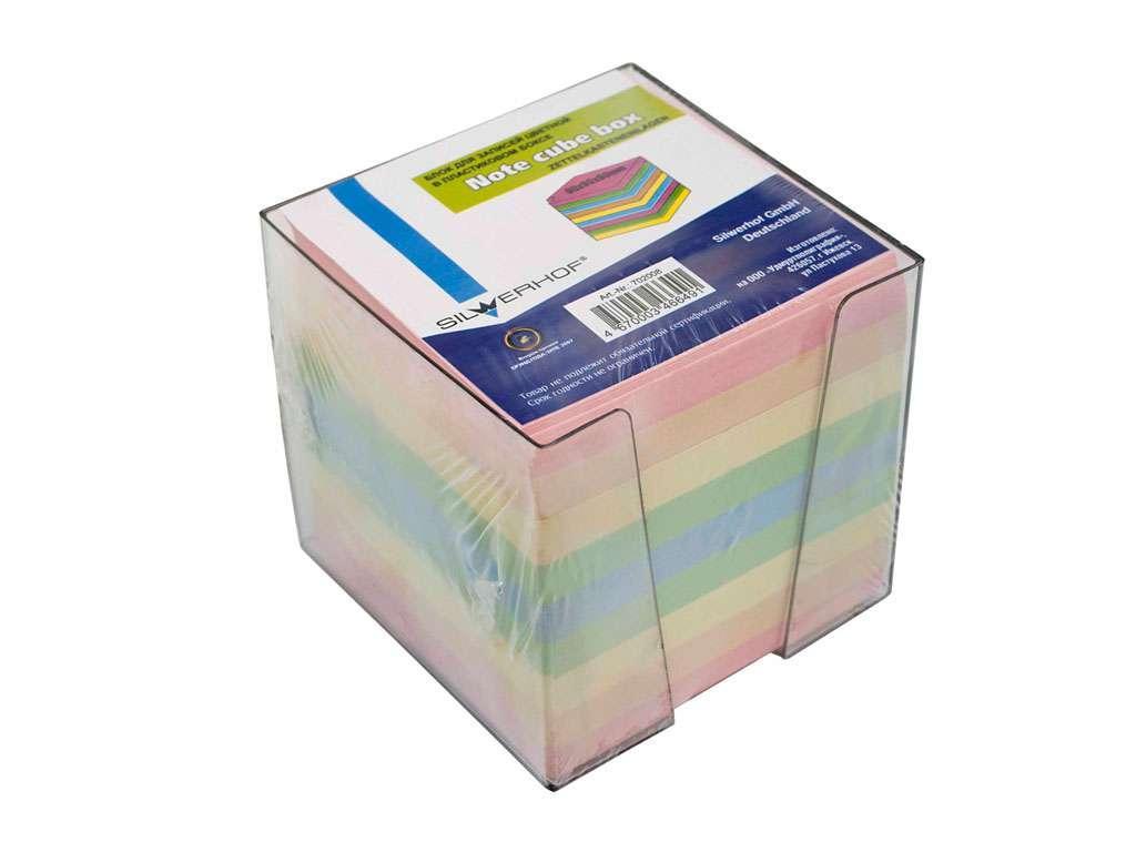 Блок для записей SILWERHOF в подставке цветной 9х9х9 см