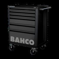 1472K6BLACK Инструментальная тележка с 6 ящиками и защитными бортами,черная BACHO