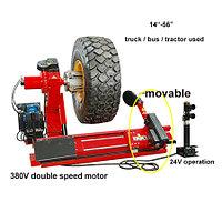 Полуавтоматический шиномонтажный стенд для замены шин грузовых автомобилей и тяжелых транспортных средств