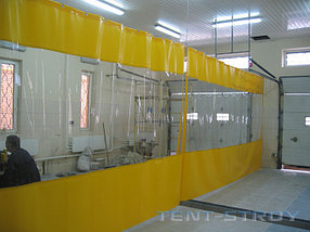 Прозрачный шторы для автомоек  (высота - 1200мм)