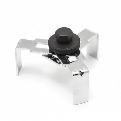 Ключ для снятия крышки топливного насоса с 3-мя регулируемыми захватами под ключ 24мм, в блистере