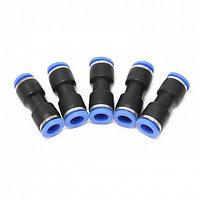 (F-SPU10K) Фитинг для пластиковых трубок 10 x 10мм, к-т 5шт.