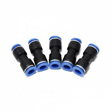 (F-SPU04K) Фитинг для пластиковых трубок 4 x 4мм, к-т 5шт.