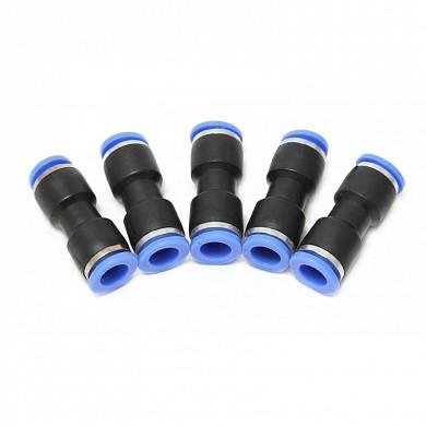 (F-SPU08K) Фитинг для пластиковых трубок 8 x 8мм, к-т 5шт.