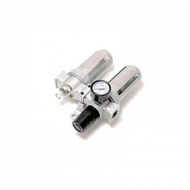 """(RF-AFRL802) Блок подготовки воздуха для пневмосистемы 1/4""""(фильтр-регулятор + лубрикатор, диапазон"""
