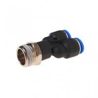 """(RF-SPX10-04) Фитинг Y-образный для пластиковых трубок 10мм с наружной резьбой 1/2"""""""