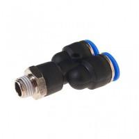 """(RF-SPX12-02) Фитинг Y-образный для пластиковых трубок 12мм с наружной резьбой 1/4"""""""