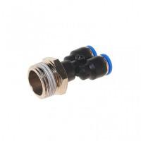 """(RF-SPX06-04) Фитинг Y-образный для пластиковых трубок 6мм с наружной резьбой 1/2"""""""