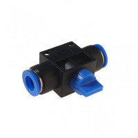 (RF-SHVFF10-10) Фитинг для пластиковых трубок с краном 10x10мм