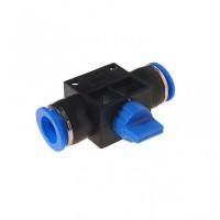 (RF-SHVFF12-12) Фитинг для пластиковых трубок с краном 12х12мм