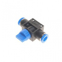 (RF-SHVFF08-08) Фитинг для пластиковых трубок с краном 8x8мм