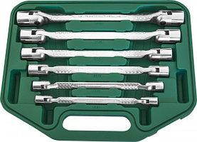 Набор ключей гаечных карданных в кейсе, 8-19 мм, 6 предметов W43A106S