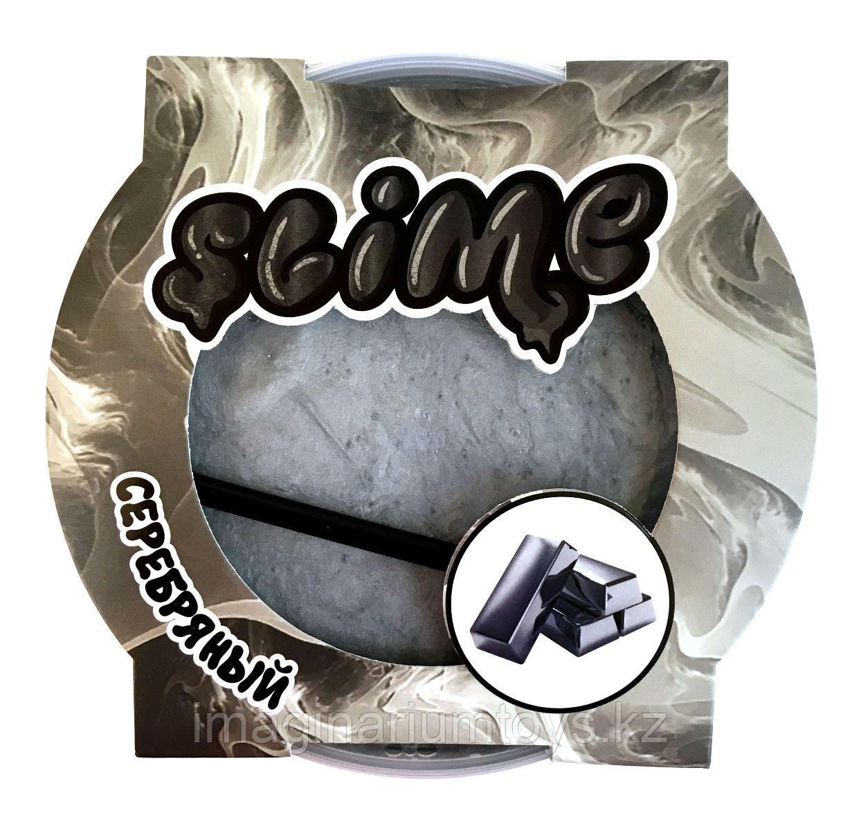 Слайм серебряный магнитный Mega Slime Ninja 300 гр