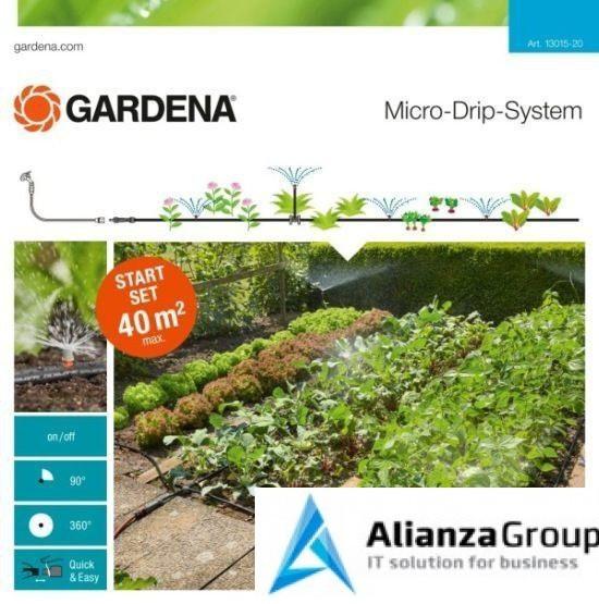 Комплект микрокапельного полива для грядок до 40м2 GARDENA 13015-20.000.00