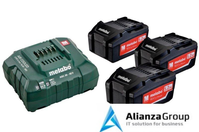 Базовый комплект Metabo 18 В Li-Power 3х5,2Ач + ЗУ ASC 30-36V AIR COOLED 685048000