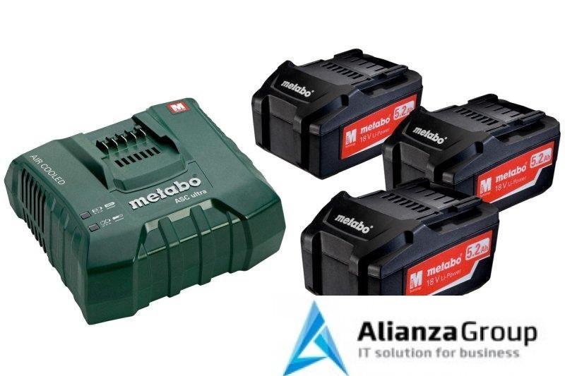 Базовый комплект Metabo 18 В Li-Power 3х5,2Ач + ЗУ ASC ULTRA AIR COOLED 685061000