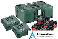 Базовый комплект Metabo 18 В LiHD 4х6,2Ач + ЗУ 2хASC ULTRA AIR COOLED + Metaloc 685104000