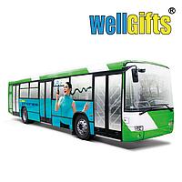 Оклейка автобусов рекламой
