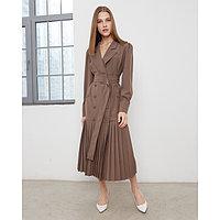 Платье женское MINAKU: Classic цвет шоколадный, размер 44