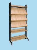 Шкаф-стеллаж комбинированный 4 наклонные и 2 горизонтальные полки